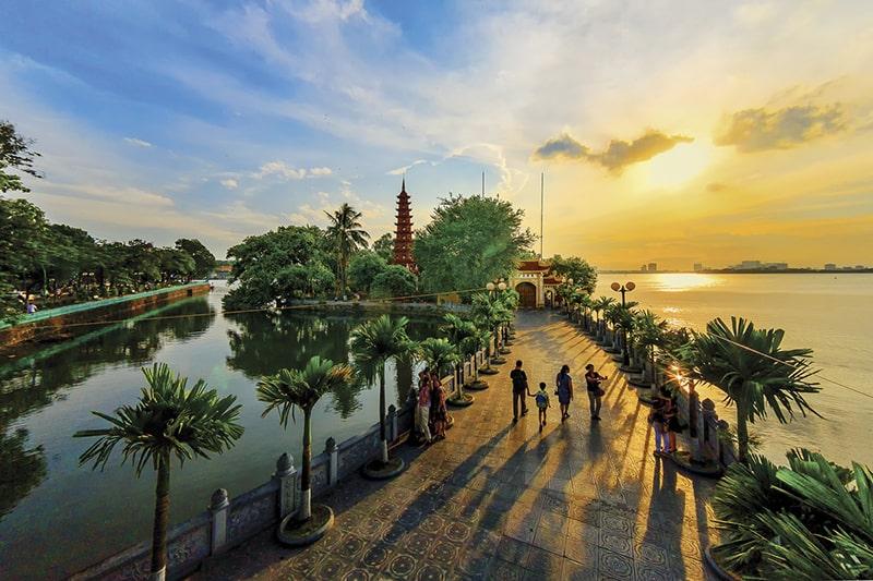 Trấn Quốc được xem là ngôi chùa lâu đời nhất ở Thăng Long