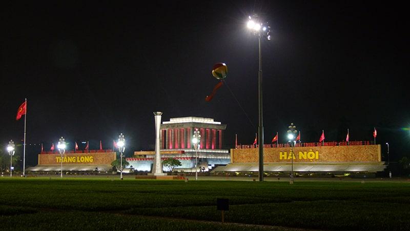 Quảng trường Ba Đình về đêm