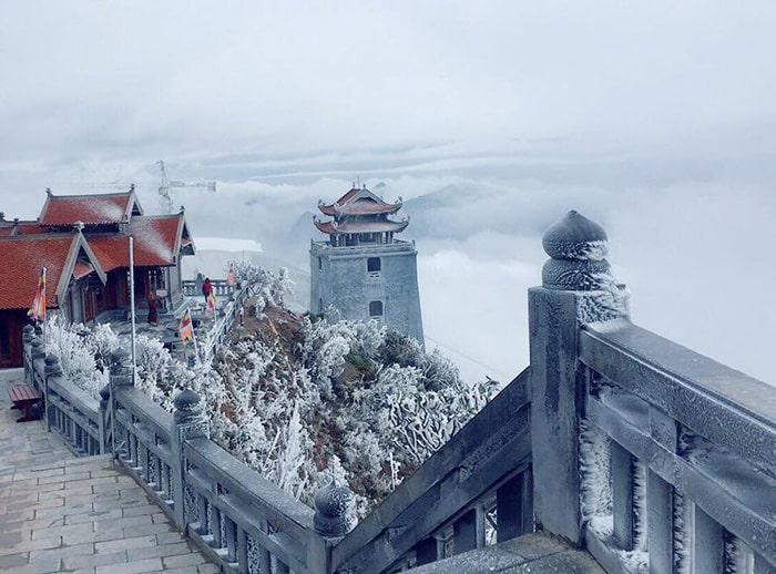 Tuyết rơi ở Sapa trên đỉnh Fansipan
