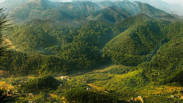 Núi Hàm Lợn thuộc dãy Độc Tôn ở Sóc Sơn, Hà Nội