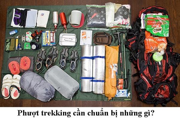 Những đồ dùng khi trekking