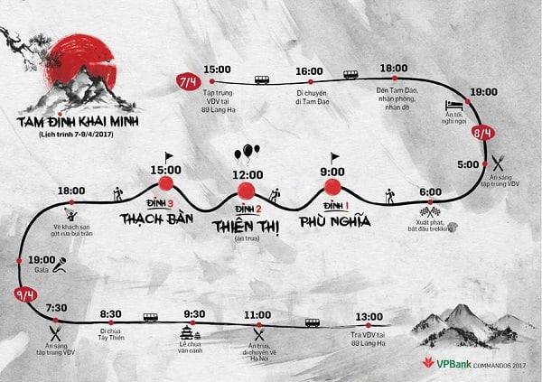Lịch trình trekking Tam Đảo trong 3 ngày