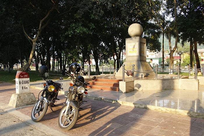 Cột mộc Km0 ở thành phố Hà Giang