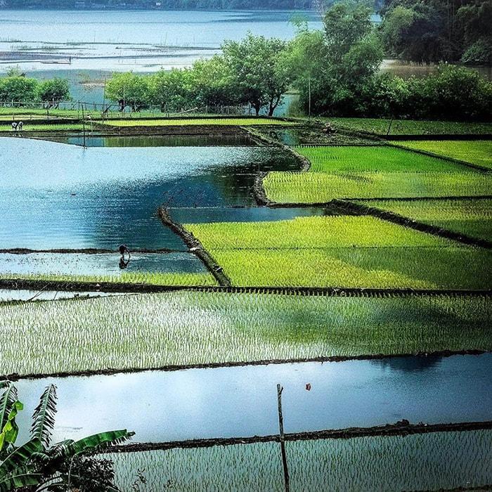 Vẻ đẹp của hồ Ba Bể ở Bắc Kạn