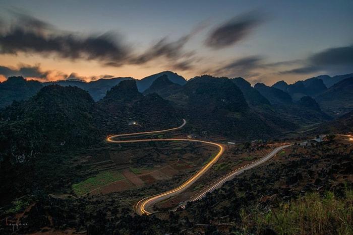 Một góc đường đèo ở Hà Giang