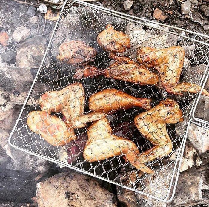 Nướng gà trên núi Trầm