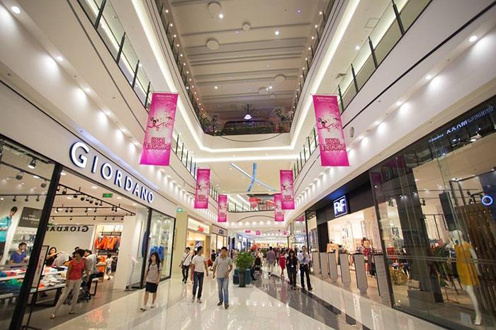 Trung tâm mua sắm bên trong Aeon Long Biên