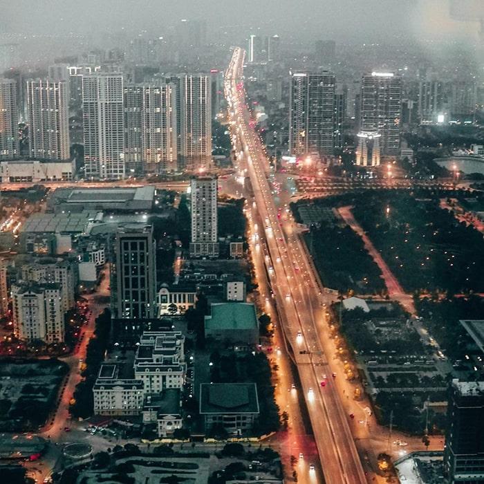 View trên cao từ tòa Landmark 72