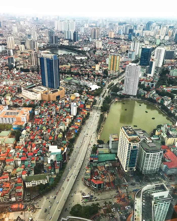 View từ trên đỉnh tòa Lotte