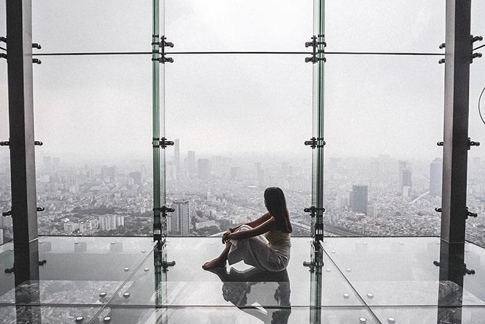 View sống ảo từ trên đỉnh tòa Lotte
