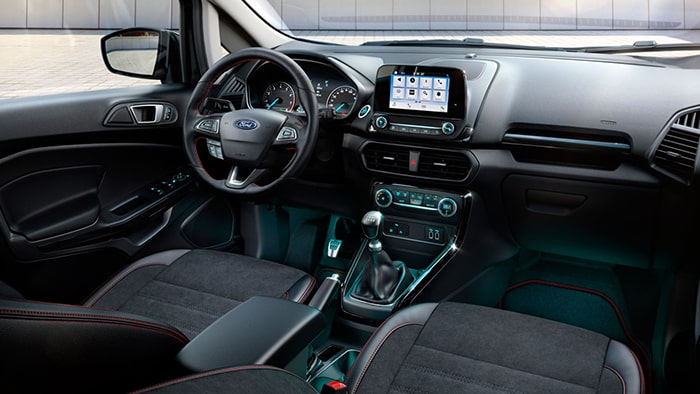 Ford Ecosport có không gian nội thất được chú trọng và đầu tư