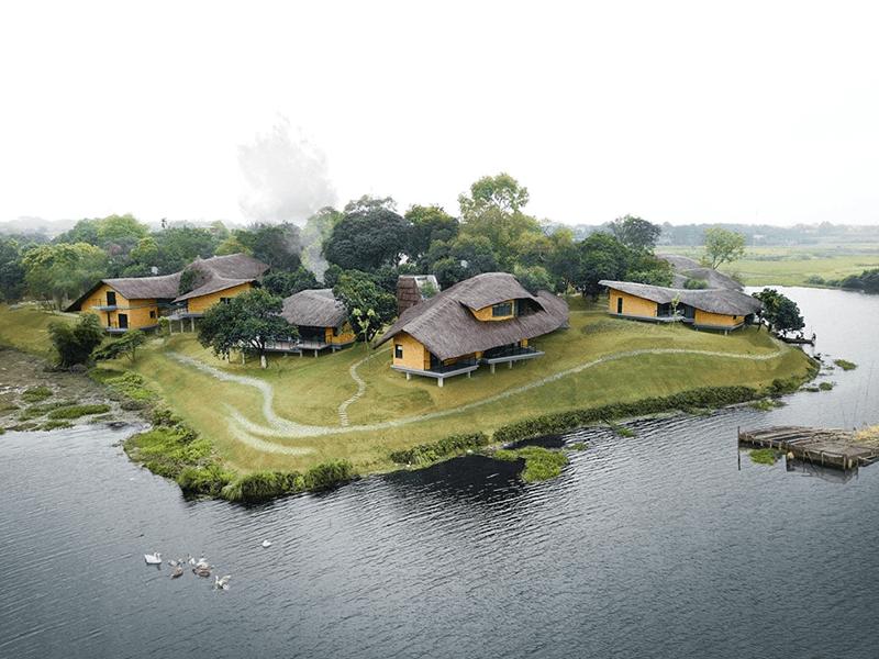 Khung cảnh yên bình của Tomodachi Retreat, Sơn Tây